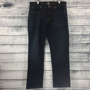 NWOT 7 For All Mankind Carsen Dark Wash Jeans 33